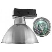 Lumin�ria Prism�tica 20 POL Alojamento Caixa Preta Industrial Difusor Aluminio - com Grade - INDUSPAR