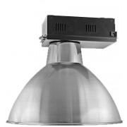 Lumin�ria Prism�tica 20 POL Alojamento Caixa Preta Industrial Difusor Aluminio - INDUSPAR