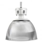 Luminária Prismática Taça 22 Polegadas E40 Cristal Industrial