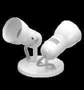 Luminaria Spot em Aluminio para 2 lampadas economica de até 25W