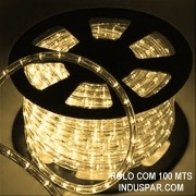 Mangueira Luminosa Branca Morna 220V LED - Corda de Natal 10 / 100 Metros