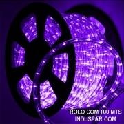 Mangueira Luminosa Roxa LED - Corda de Natal 10 / 100 Metros