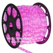 Mangueira Luminosa Rosa 220V LED - Corda de Natal 10 / 100 Metros