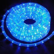 Mangueira luminosa Azul 10mm LED - Kit com  10 metros