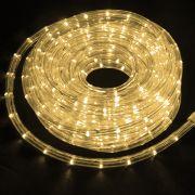 Mangueira Luminosa Branca Morna LED -   Metro 127V - Corda de Natal