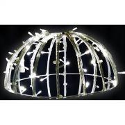 Bola de Natal 1,50 cm Meia Face Gigante Led Esfera