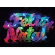 Placa LED Feliz Natal - 35 LEDS RGB - REF 1855/1856