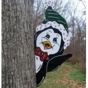 Pinguim atrás da Árvore PN-169-DN Tam. 0,50 x 0,23 Metros