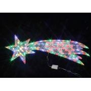 Placa  69 LEDS Cometa Colorido com 75x23CM 127V (PISCA 8 FUNÇÕES) - REF 1804