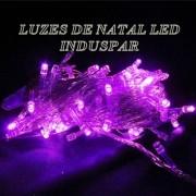 Pisca  - Pisca Roxo / Lilas 100 LEDs 8 Funções - Fio Roxo