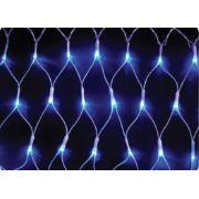 REDE 160 LED AZUL FIO BRANCO - 2,20 x 1,25 METROS - REF 1121-1150