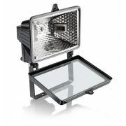 Refletor  300W/500W para Lâmpada Halógena 118MM Preto - Sem Sensor ELGIN