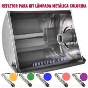 Refletor  250W Alumínio para formar KIT com Lâmpada Metálica Cores