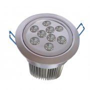 Spot de Embutir Super LED 9W Redondo Prata Bivolt