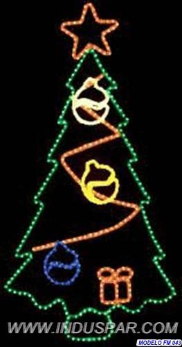 Painel de Natal PN-023-FE Iluminado Led - ÁRVORE FESTIVA - MED 1,72 X 0,88 mts