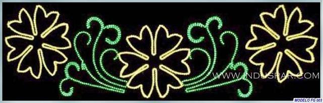 Painel de Natal Iluminado - Floral