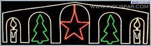 Painel de Natal Iluminado - Estilos