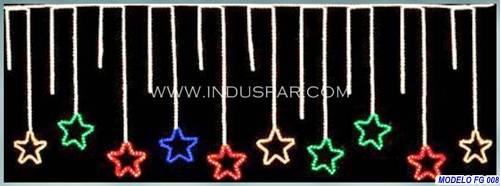 Figura de Natal Iluminada - Chuva de Estrelas