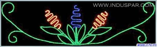 Painel de Natal Iluminado - Arranjo Lilás