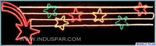 Painel de Natal Iluminado - Vitrine