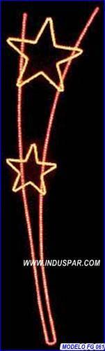 Painel de Natal Iluminado - Vara de Estrelas