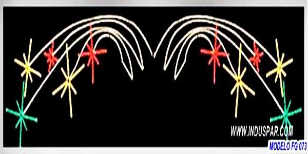FIGURA ILUMINADA NATAL - FIG074  - DUPLA BOMBINHAS - MED 182X816