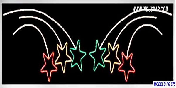 Figura de Natal Iluminada - Dupla Estrelas Irmãs