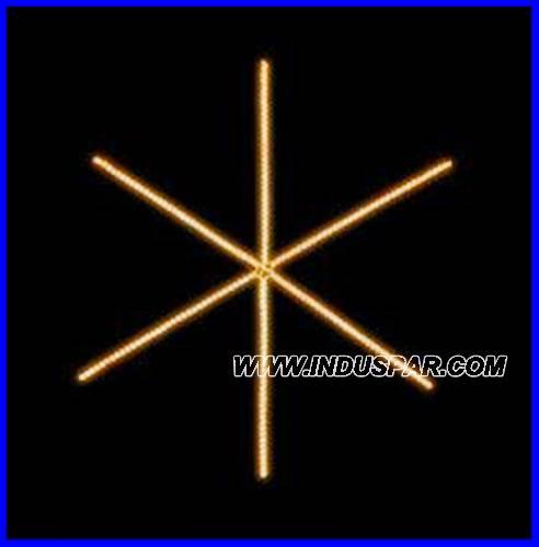 Estrela Iluminada 6 Pontas Linear FX