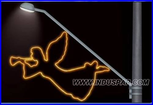 FIGURA ILUMINADA NATAL - FIBPGR-07 - ANJO TROMPETE - MED 155X200