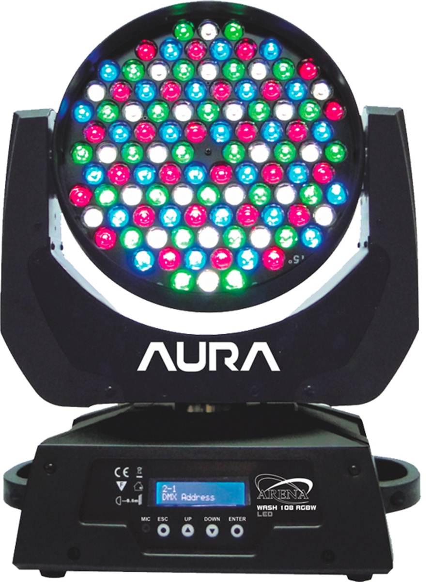 LED TEK MOVING HEAD ARENA RGBW WASH 108 LED DMX