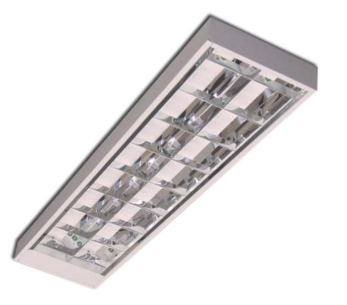 Luminária para Lâmpada Fluorescente de Sobrepor Comercial - Ref. 3094