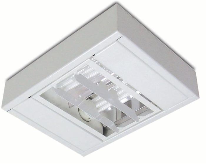 Luminária para Lâmpada Fluorescente de Sobrepor Decorativa - Ref. 3054