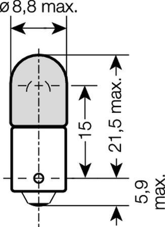 Lâmpada Automotiva COOLBLUE 3893CB - 4W / 12V BLI