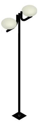 Poste de Jardim - Tubular Aço Curvo L 2 Ovni - Tubo Ø 63mm