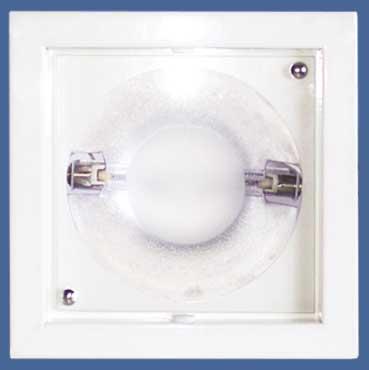 Luminária Quadrada com Vidro - Lâmpada HQI - Ref. 564/1 HQI