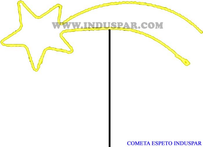 COMETA ESPETO MANGUEIRA LUMINOSA INDUSPAR 1,28 x 0,60