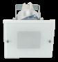 Lumin�ria de Embutir 120X120MM Aluminio tipo Quadrado, para 1 L�mpada de 25W, Soquete E27 - INDUSPAR