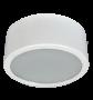 Lumin�ria de Sobrepor de 240MM, Aluminio na cor Branca, Redonda Simples, para 2 L�mpada de 25W - INDUSPAR