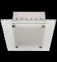 Lumin�ria de Sobrepor Quadrada em Aluminio na cor Branca para 2 L�mpadas de 20W, Soquete E27 - INDUSPAR