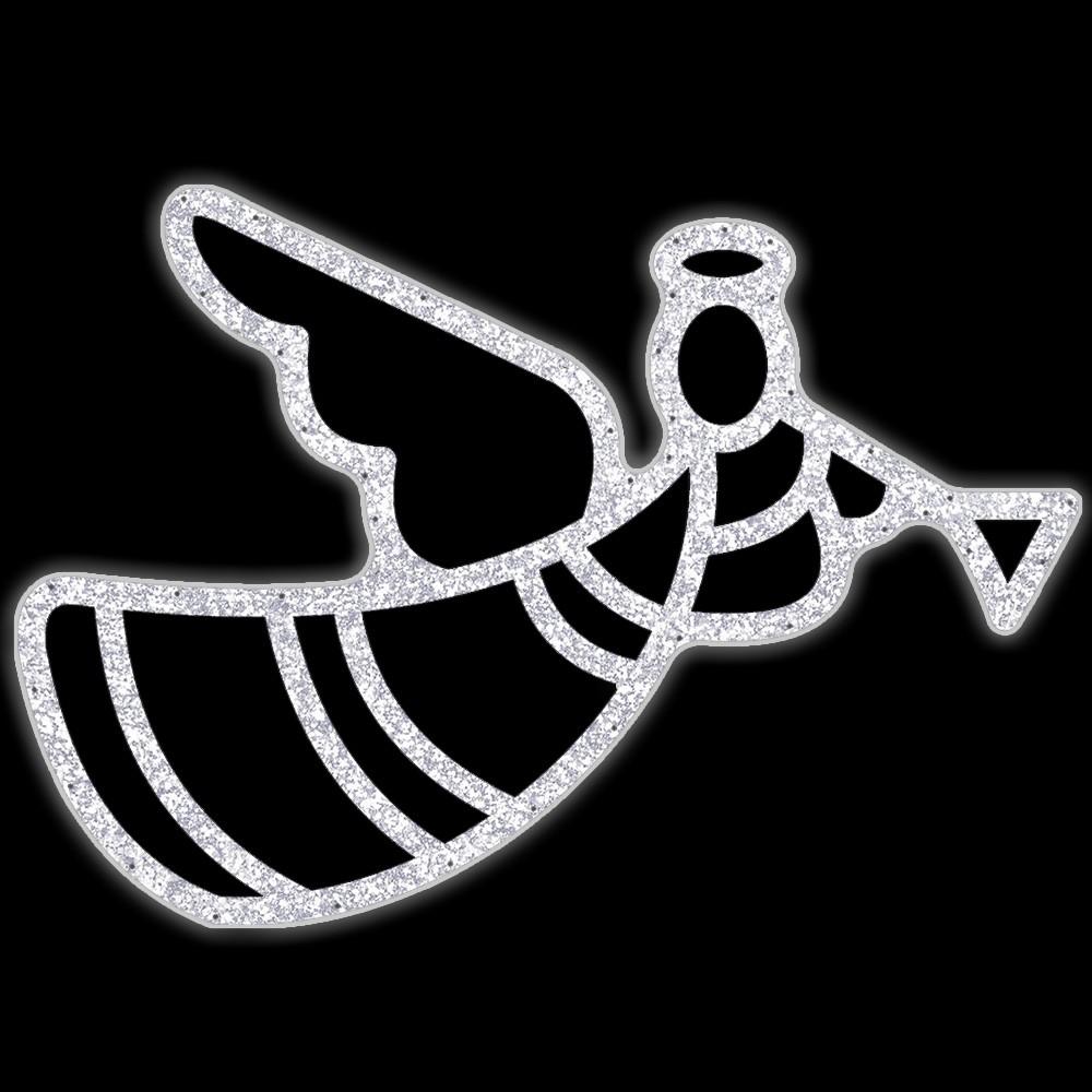 Anjo com corneta Decoração de Natal Dia e Noite - DF-071/A-DN