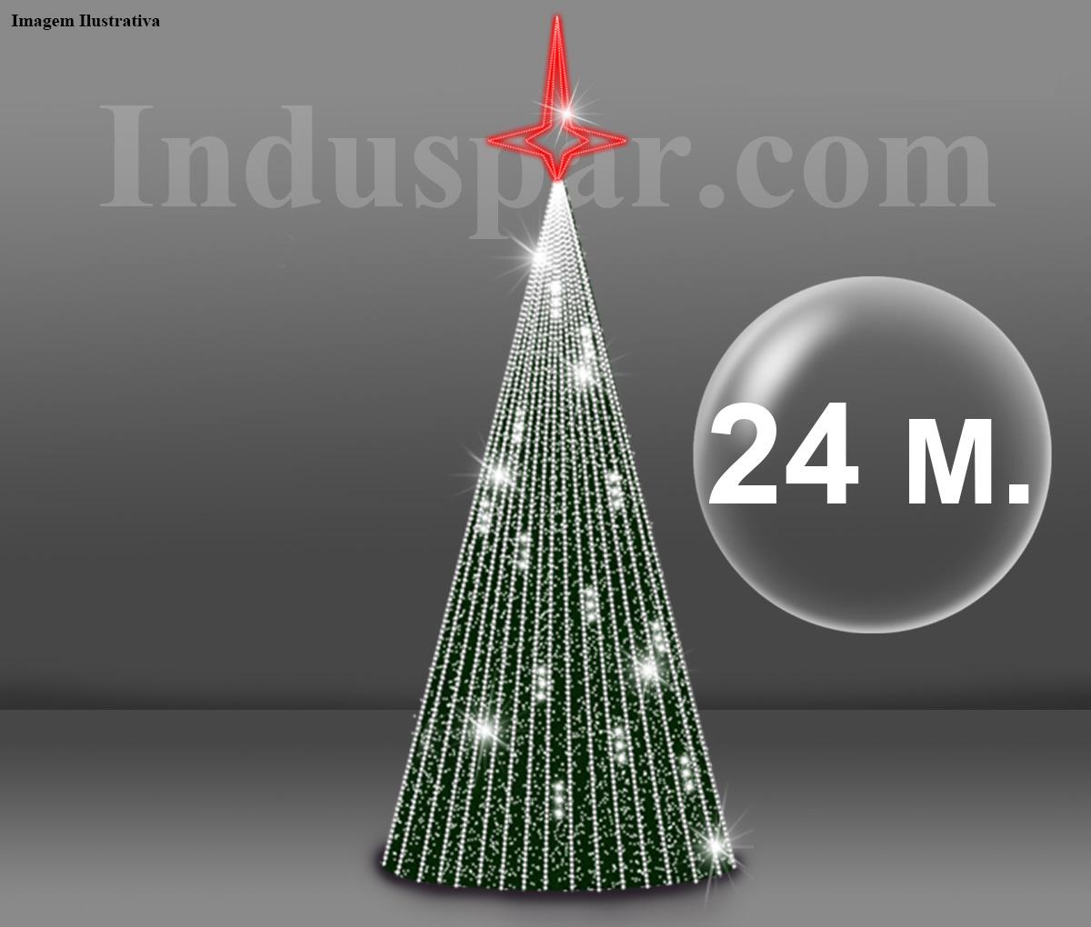 Árvore de Natal Gigante Glamour Led 24 Metros Completa