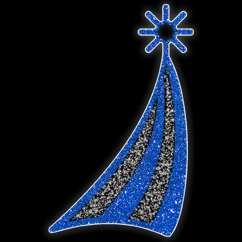 Arvore de Natal PN-301-DN Vela Iluminado Led - MED 2,60 X 1,62 MT Decoração de Natal Dia e Noite