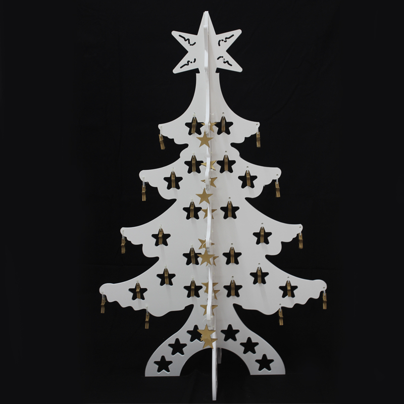 Arvore de Natal 1,17 Mts x Ø 0,75 mts Modelo Vitrine Elegance