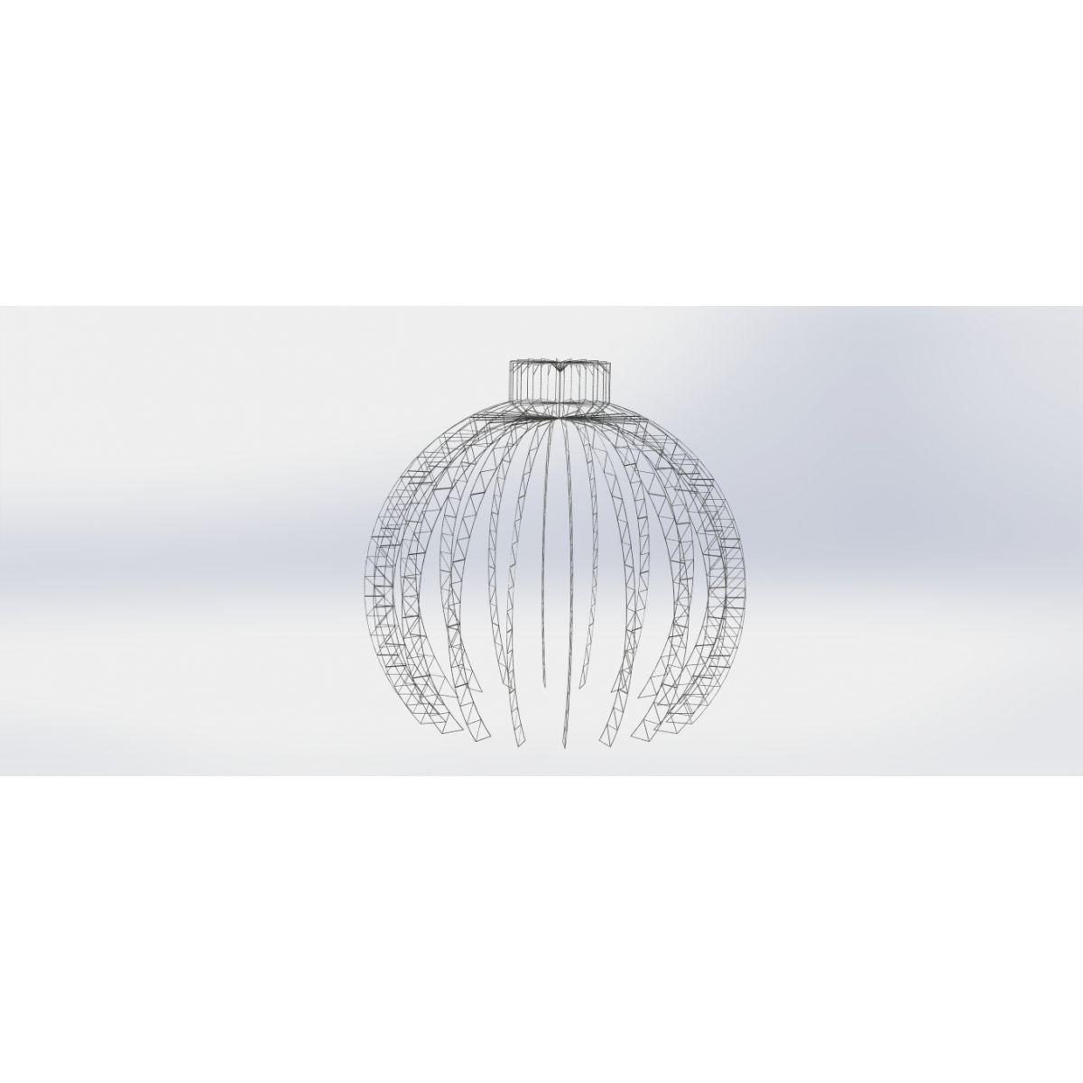 Bola de Natal 6 a 20 metros Decorativa Gigante em Led Europa