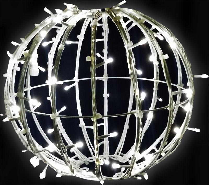 BOLA GIGANTE NATAL LED 200CM SPHERA 3D