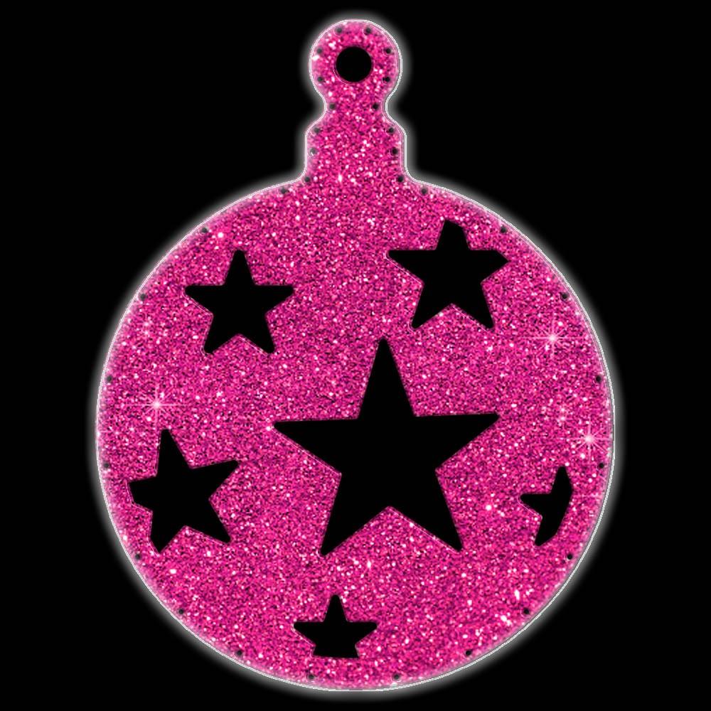 Bola Pingente Natal Gigante Iluminado LED Decoração Dia e Noite - BN05