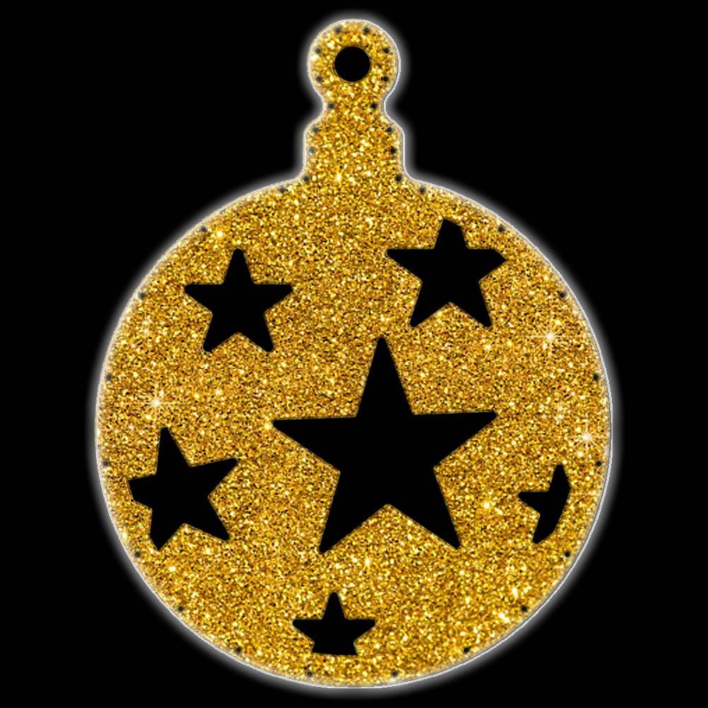 Bola de Natal  52 cm Gigante Iluminado LED Decoração para Dia e Noite - BN05-DN