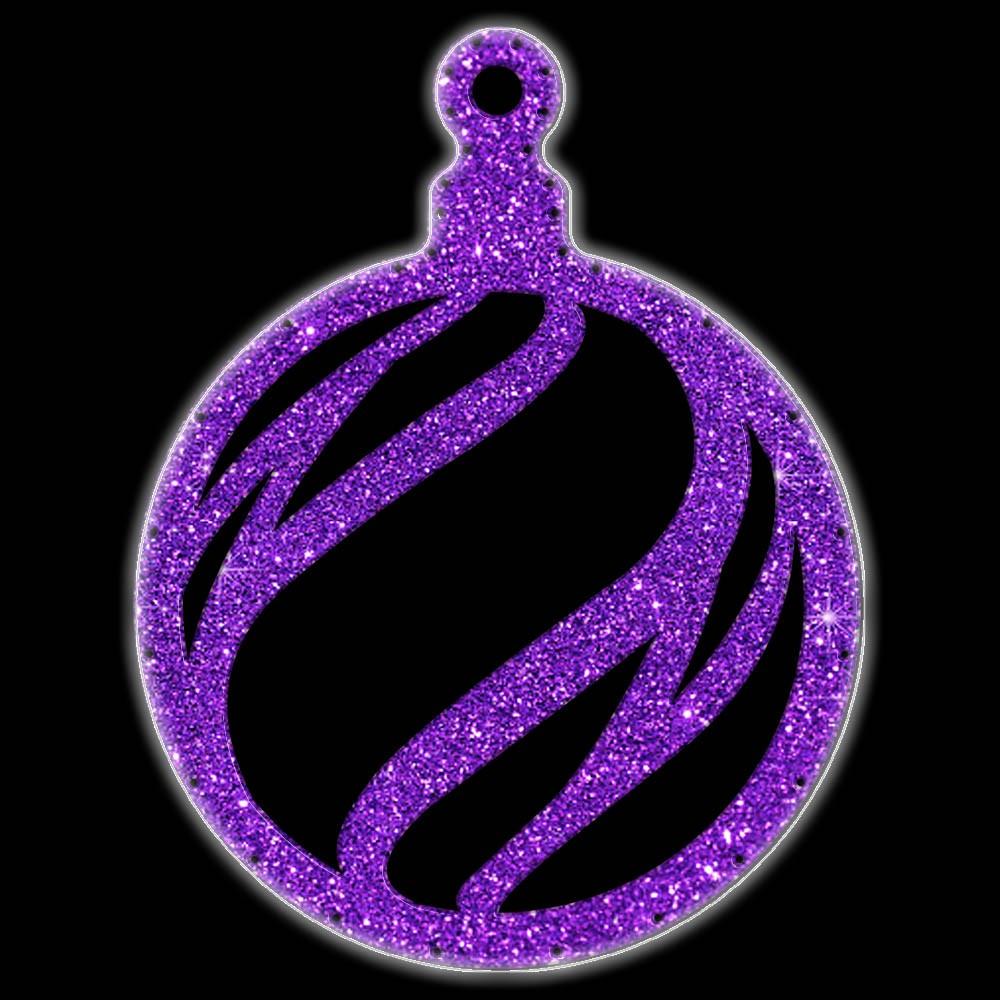 Bola Pingente Natal Gigante Iluminado LED Decoração Dia e Noite - BN06