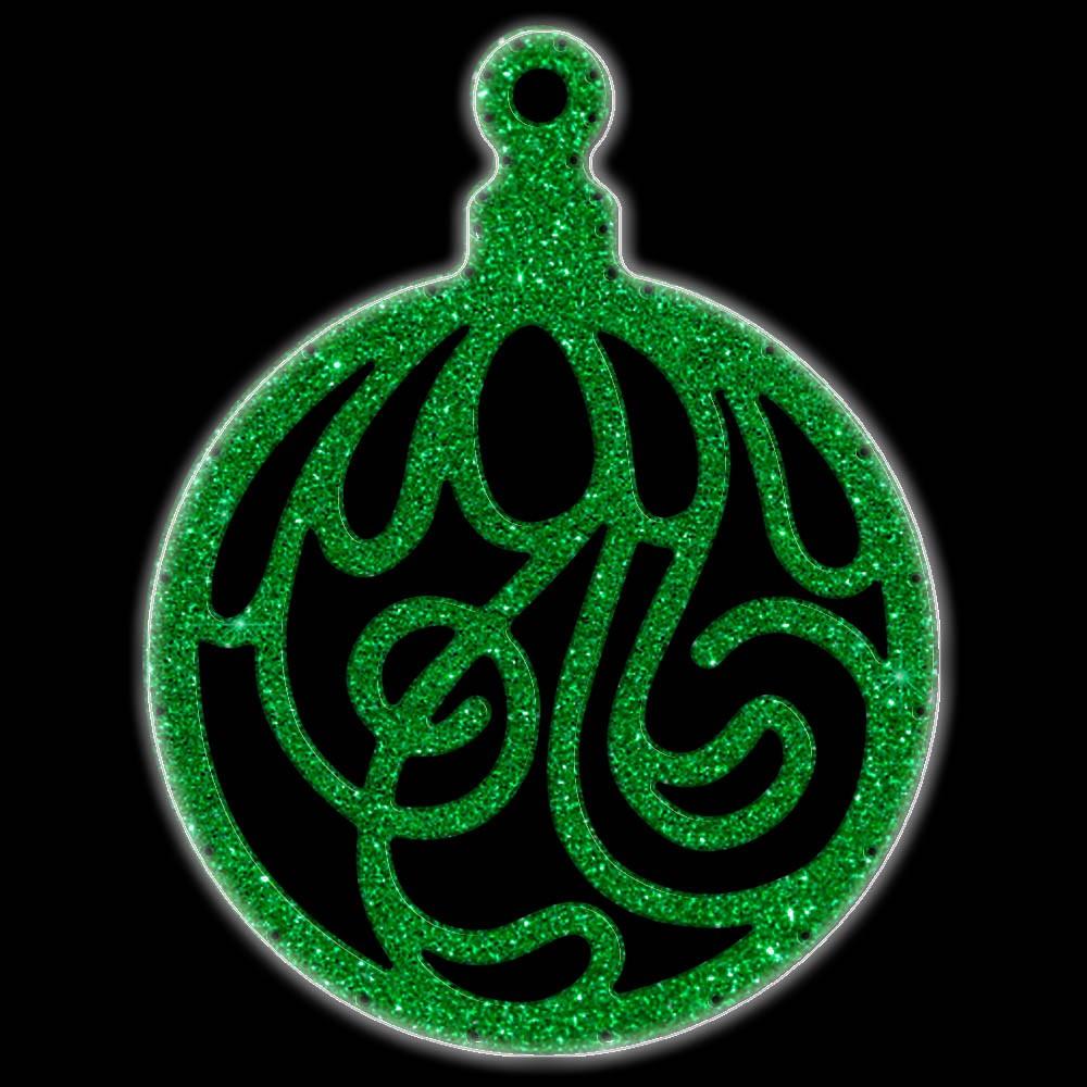 Bola de Natal  52 cm Gigante Iluminado LED Decoração para Dia e Noite - BN07-DN
