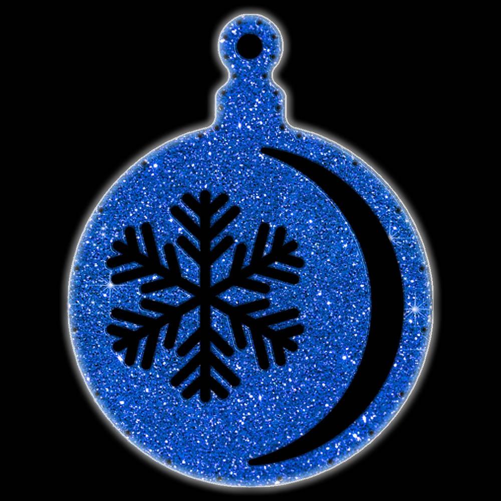 Bola de Natal  52 cm Gigante Iluminado LED Decoração para Dia e Noite - BN02